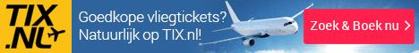 Goedkope vliegtickets van Tix.nl