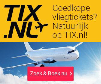 De voordeligste vluchten vindt u bij Tix.nl
