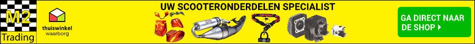 M2 Trading is één van de grootste aanbieders van scooter onderdelen in Nederland en België. Met een zeer uitgebreid assortiment aan onderdelen voor elk merk en type scooter, is M2 Trading een zeer geliefde webwinkel voor zowel jongeren als ouderen die op zoek zijn naar dat specifieke onderdeel voor