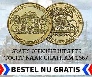 Gratis herdenkingsmunt Michiel de Ruiter