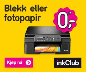 Inkclub - blekkpatroner eller fotopapir for 0 kr