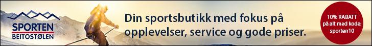 Rabattkode Sporten Beitostølen - 10 Rabatt ved bruk av kode
