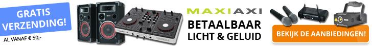 MaxiAxi.com : Betaalbaar Licht & Geluid. Bekijk de aanbiedingen >>>