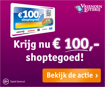 8ca5b802519 Ontvang gratis shoptegoed bij Vriendenloterij.nl. Als je nu gaat meespelen  in de VriendenLoterij, ontvang je € 120,- shoptegoed.