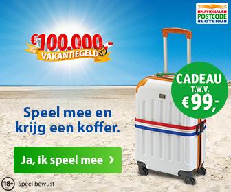 gratis koffer postcodeloterij