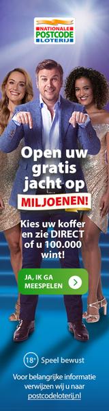 Speel de eerste maand gratis mee in postcode loterij Miljoenenjacht!Maak wekelijks kans op bedragen tot wel €5 Miljoen! Gratis Hama cadeaubon t.w.v. €15.-.