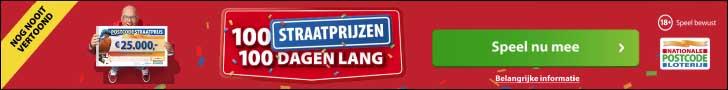Straatprijs Postcodeloterij winnen? 100 straten maken kans!