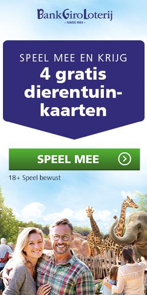 4 gratis dierentuinkaarten.