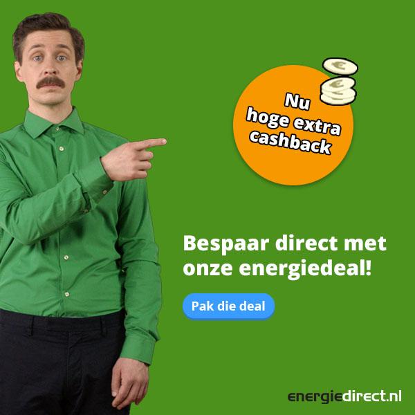 EnergieDirect | Nu extra hoge cashback